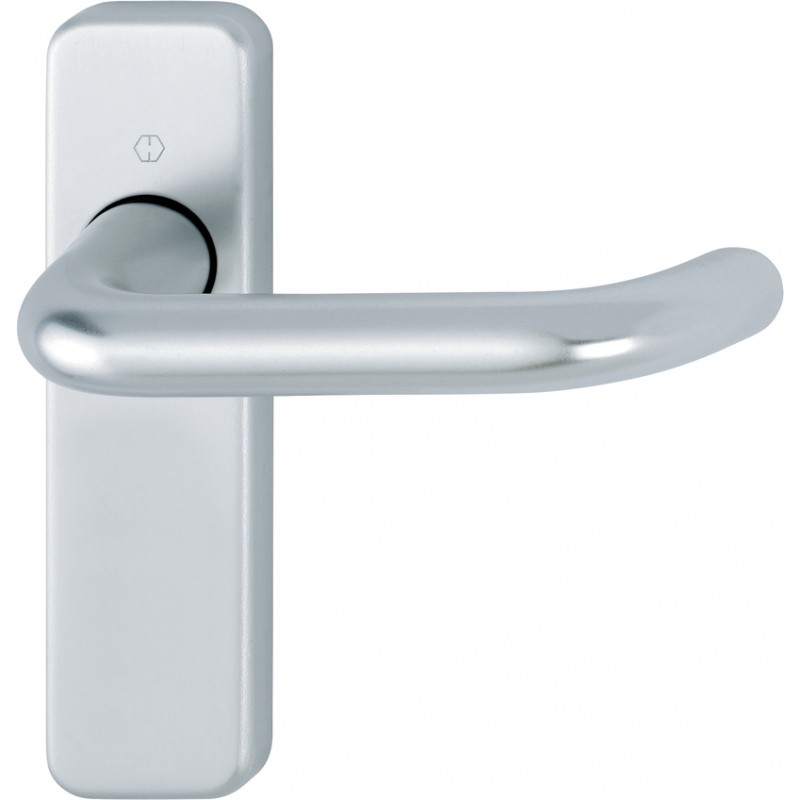 HOPPE 19mm dia. Satin Anodised Aluminium Lever Latch Backplate Furniture