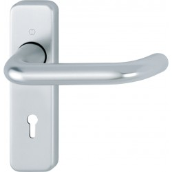 HOPPE 19mm dia. Satin Anodised Aluminium Lever Lock Backplate Furniture - 57mm Centres