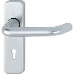 HOPPE 19mm dia. Satin Anodised Aluminium Lever Lock Backplate Furniture - 57mm Centres