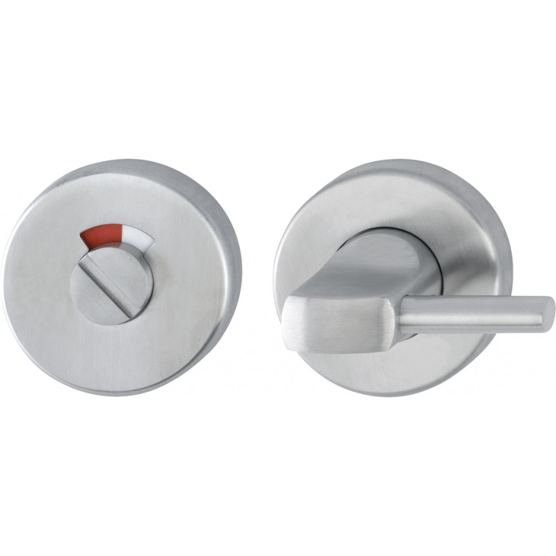 52mm dia. x 6mm Satin Stainless Steel Grade 316 Disabled Turn, Release & Indicator