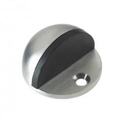 Satin Stainless Steel Floor Mounted Oval Shielded Door Stop (B)