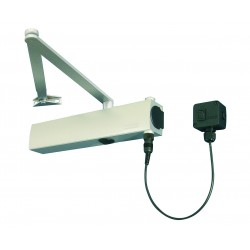 GEZE TS4000E EN 1-6 Electromagnetic Hold Open Door Closer Silver