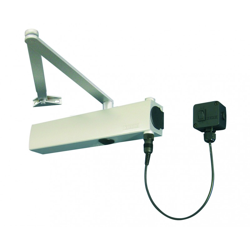 GEZE TS4000E EN 2-6 Electromagnetic Hold Open Door Closer Silver