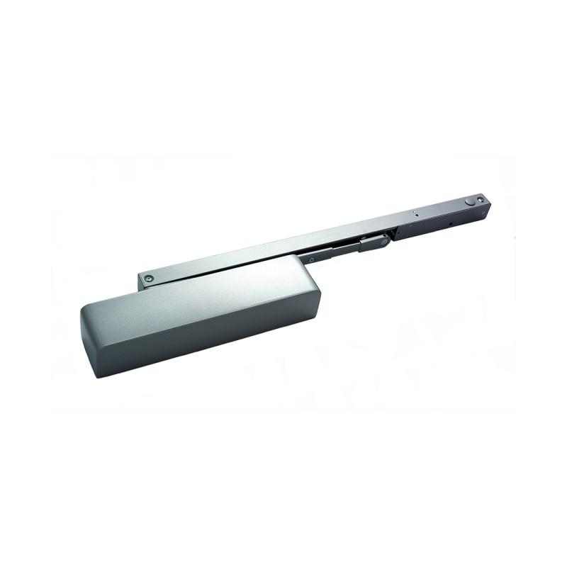 Briton 1130B.TE EN2-4 Electromagnetic Hold Open Door Closer - Silver (B)