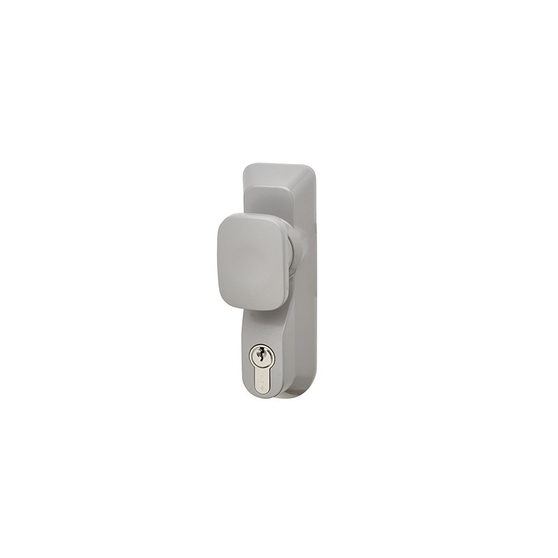 Briton 1413E/KE Knob Operated Outside Access Device Silver (B)