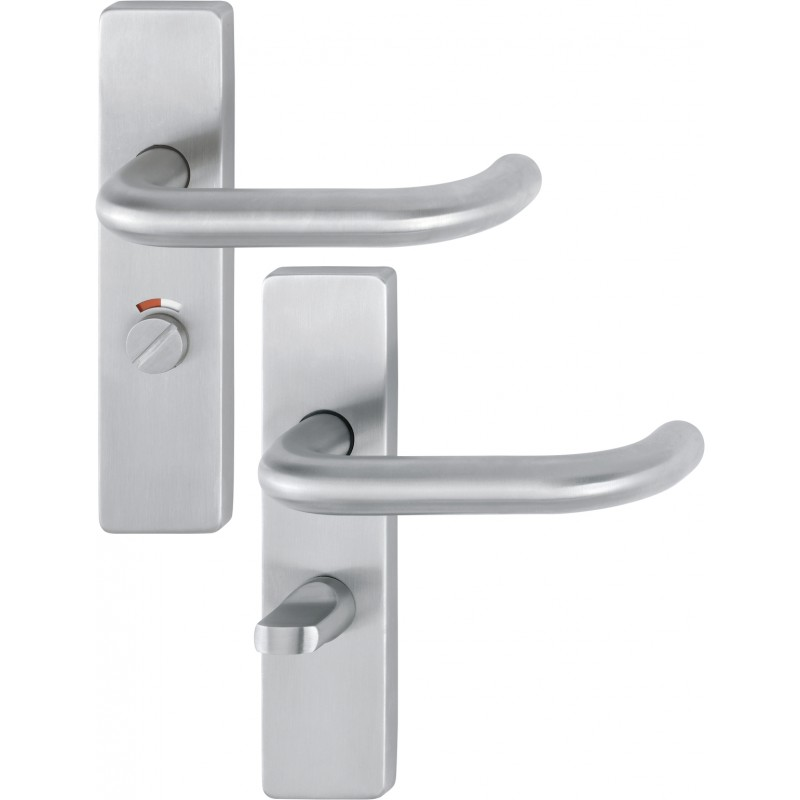 ARRONE 19mm dia. Satin Stainless Steel Bathroom Lever Backplate Furniture - 57mm Centres