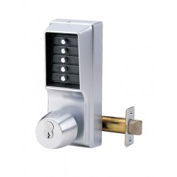 KABA Simplex 1021 & 1041 Digital Locks - Key Override - Satin Chrome