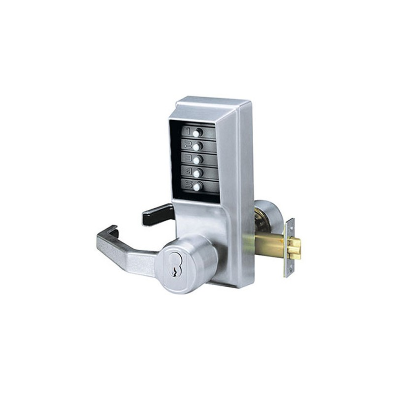 KABA Simplex L1021 Digital Lock - Key Override - Satin Chrome