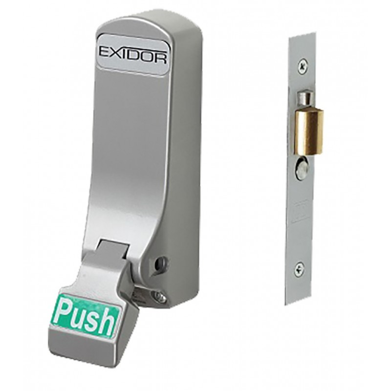 Exidor 306 Push Pad Mortice Actuator with Cylinder Mortice Night Latch