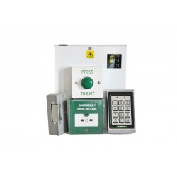 12v DC - Standalone Single Door Electric Strike Access Control Kit with Keypad