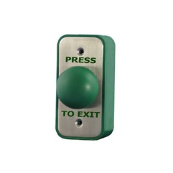 Green Dome Momentary Press To Exit Button - SSS - Architrave (S)