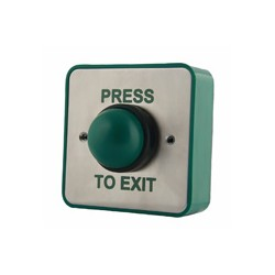 Green Dome Momentary Press To Exit Button - SSS