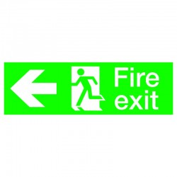 440mm x 150mm Fire Exit Running Man Sign