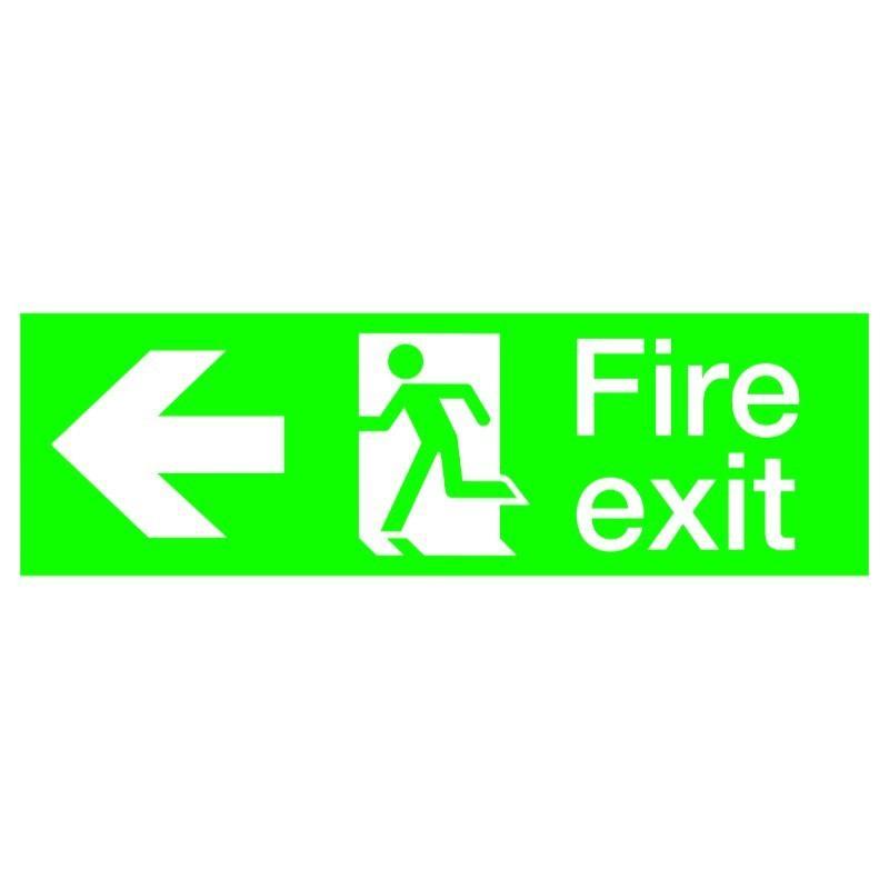 440mmx 150mm Fire Exit Running Man Sign.