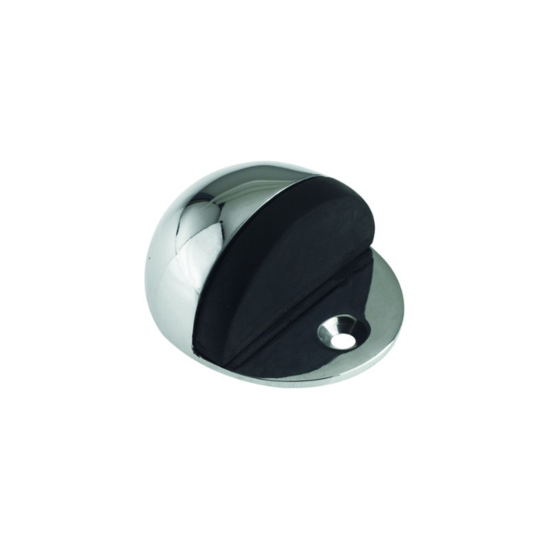 Oval Shielded Door Stop Polished Chrome