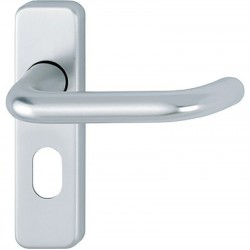 HOPPE Oval Lever Lock Furniture Satin Anodised Aluminium