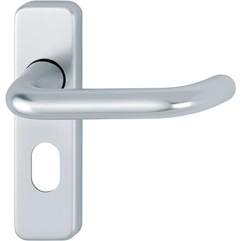 HOPPE Oval Lever Lock Furniture Satin Anodised Aluminium