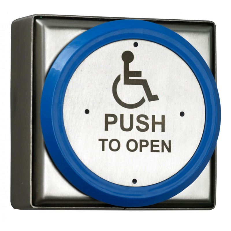 Large All Active Disabled Push Pad c/w Back Box - SSS