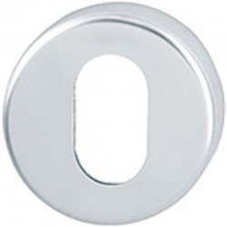 50mm x 8mm Satin Aluminium Oval Escutcheon
