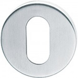 50 x 6mm Satin Stainless Steel Oval Profile Escutcheon