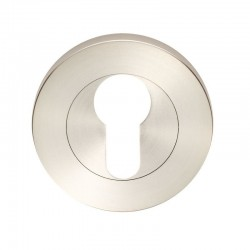 55mm x 8mm Euro Escutcheon Satin Stainless Steel G316