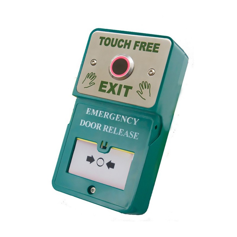 "Dual Unit - ""Touch Free"" Exit c/w Resettable Emergency Door Release (B)"