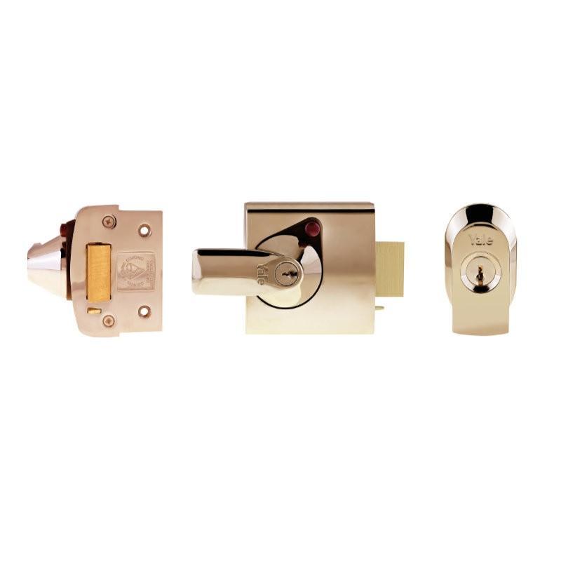 Yale PBS1 BS3621 Cylinder Rim Nightlatch - P Brass
