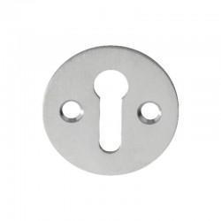 M41 Open Key Escutcheon - Satin Chrome