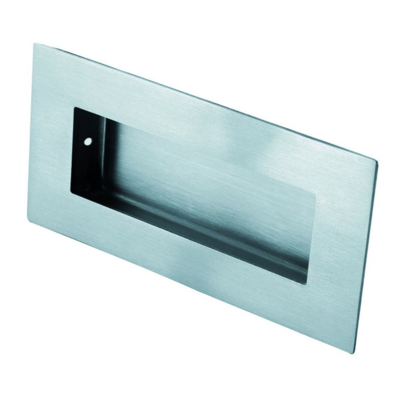 Eurospec FPH1000 Rectangular Flush Pull - Satin Stainless