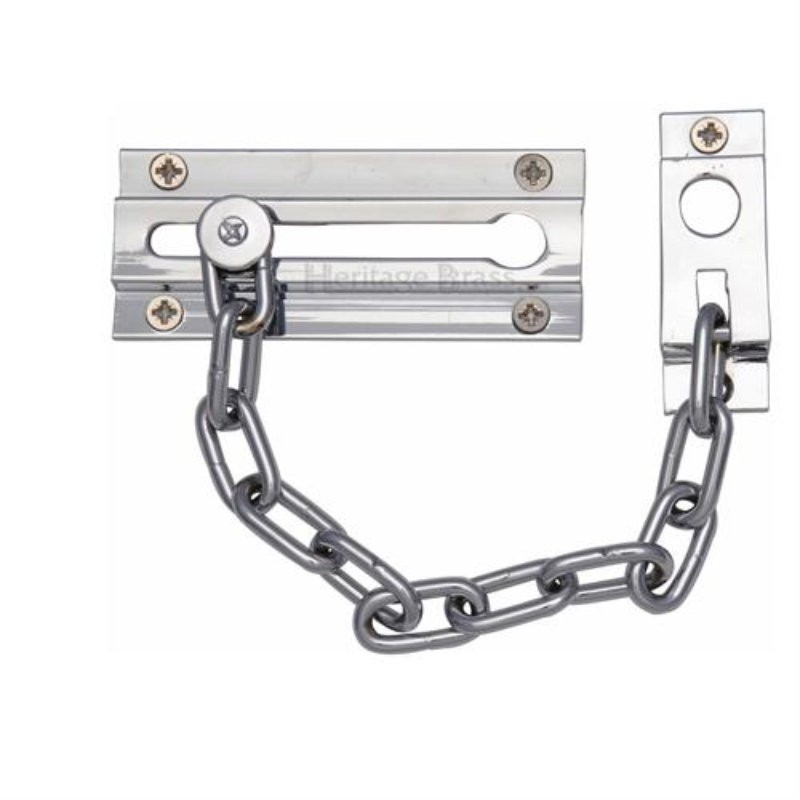 V1070 Security Door Chain - Chrome