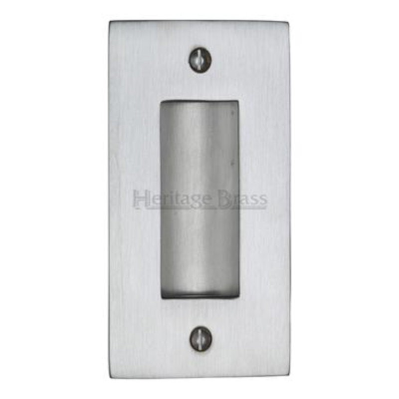 C1820 Flush Pull Handle - 102mm Satin