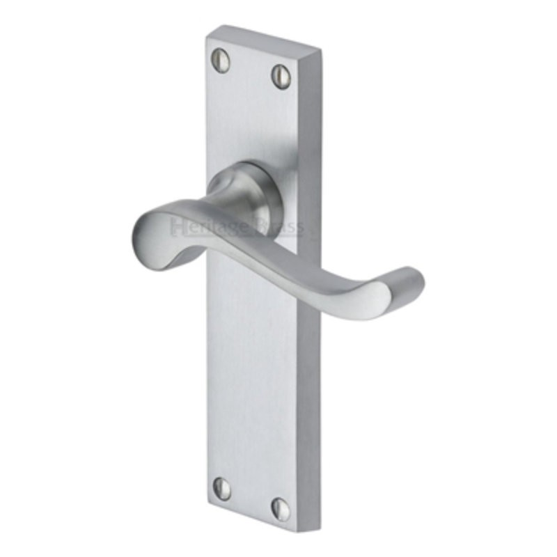 V803 Bedford Lever Latch Furniture - Satin Chrome