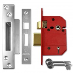 UNION 2200 StrongBOLT 5 Lever Sashlock - 65mm Chrome