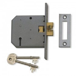UNION 2477 3 Lever Claw Bolt Mortice Lock - Satin Stainless