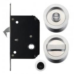 FB81 Sliding Door Lock Set - Satin Chrome