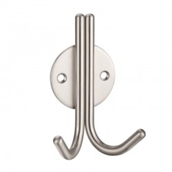 ZOO ZAS70 Stainless Steel Double Robe Hook
