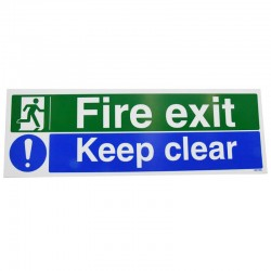 Fire Exit Keep Clear Vinyl Sign