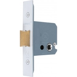 76mm Satin Chrome Square Case Mortice Latch