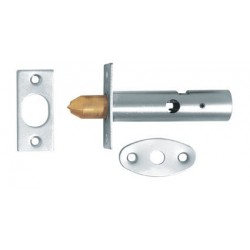 63mm Mortice Security Door Bolt Satin Chrome