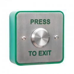 "Vandal Resistant Square ""Press to Exit"" Button"