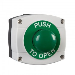 IP66 Rated Weatherproof Press To Open Large Green Exit Button