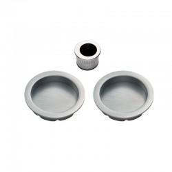 Carlisle Brass Manital ART54A Pocket Sliding Round Flush Pull Set - Satin Chrome