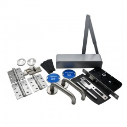 Fire Door Ironmongery Kit for Office/Classroom - Locking - Escape Lock Function - Basic Specification