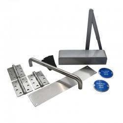 Fire Door Ironmongery Kit for Corridor - Non-Locking - Basic Specification