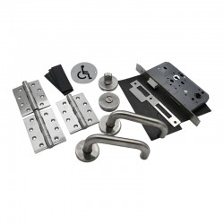 Fire Door Ironmongery Kit for Accessible Bathroom WC - Basic Specification