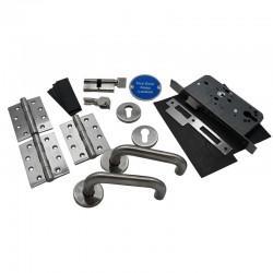 Fire Door Ironmongery Kit for Storeroom - Locking - Basic Specification