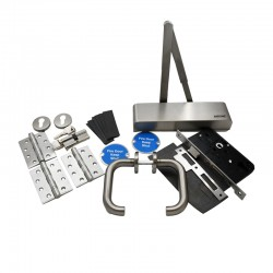 Fire Door Ironmongery Kit for Office/Classroom - Locking - High Specification