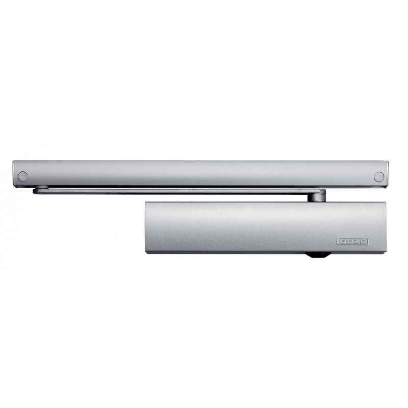 GEZE TS5000E EN 2-6 Electromagnetic Hold Open Slide Arm Door Closer Silver