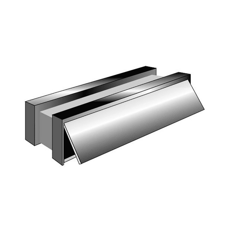Intumescent Letterbox Assembly - Satin Anodised Aluminium