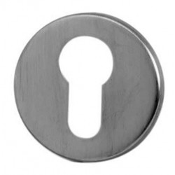 52mm dia. x 6mm Satin Stainless Steel Euro Profile Escutcheon
